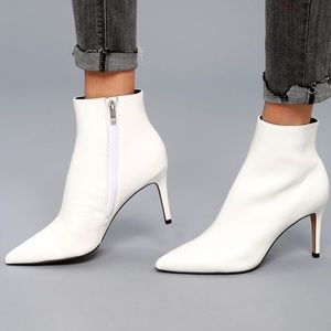 Steven White Leather Booties
